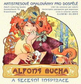 Alfons Mucha - Antistresové omalovánky pro dospělé - neuveden