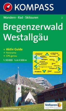Bregenzerwald Westallgäu 2 / 1:50T NKOM - neuveden
