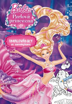 Barbie - Perlová princezna - Omalovánky se samolepkami - Mattel