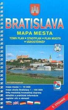 Bratislava Mapa mesta -