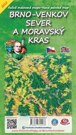 Brno venkov Sever a Moravský kras Skládací mapa -