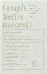 Časopis Matice moravské supplementum 3/2012 – Místa lichtenštejnské paměti - Tomáš Knoz, Peter Geiger