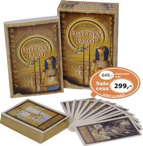 Egyptský tarot / kniha + karty/ - Clive Barret
