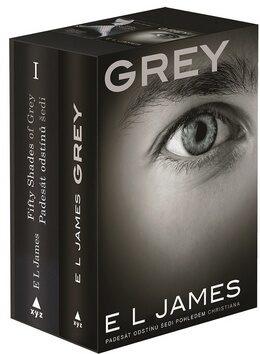 Padesát odstínů šedi + Grey - dárkový box (komplet) - E.L. James