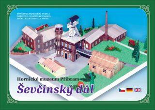Hornické muzeum Příbram Ševčinský důl - Stavebnice papírového modelu - neuveden