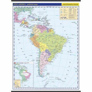 Jižní Amerika - školní nástěnná politická mapa 1:10 mil./96x126,5 cm