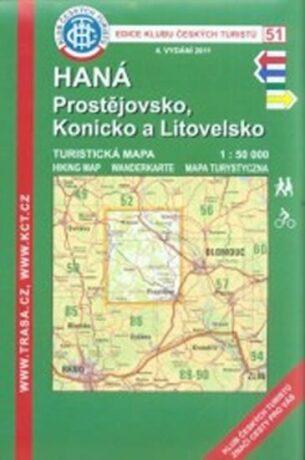 Kčt 51- Haná, Prostějovsko, Konicko a Litovelsko - neuveden