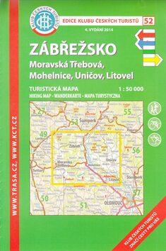 KČT 52 Zábřežsko - Moravská Třebová, Mohelnice, Uničov, Litovel 1:50 000