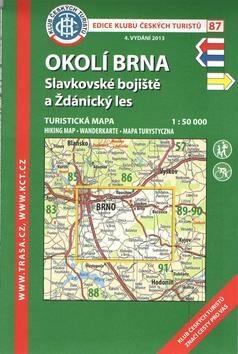 KČT 87 Okolí Brna, Slavkovské bojiště a Ždánický les 1:50 000 -