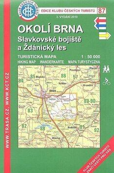 KČT 87 Okolí Brna, Slavkovské bojiště a Ždánský les 1:50 000 - neuveden
