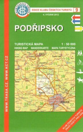 KČT 9 Podřipsko - turistická mapa 1:50 000 - neuveden