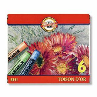 Koh-i-noor křídy (pastely) prašné umělcké 10 mm Toison D´or souprava 6 ks