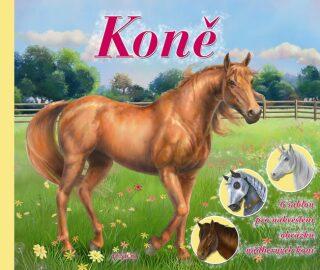 Koně - 6 šablon pro nakreslení obrázků nádherných koní - neuveden