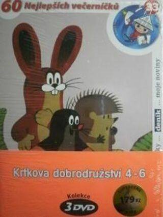 Krtkova dobrodružství 4-6 - 3 DVD (pošetka) - Zdeněk Miler