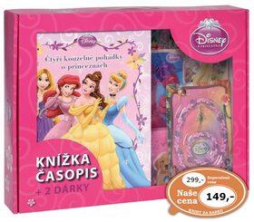 Kufřík Čtyři kouzelné pohádky o princeznách, časopis, 2 dárky -