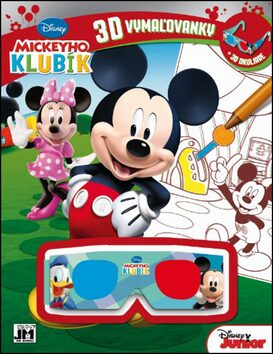 Mickeyho klubík 3D vymaľovanky -