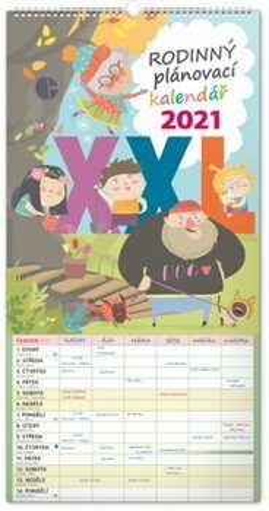 Nástěnný kalendář Rodinný plánovací XXL 2021