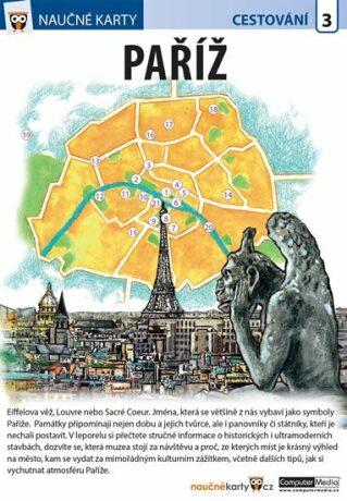 Naučné karty Paříž - neuveden
