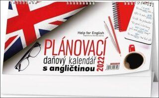 Plánovací daňový kalendář s angličtinou - Stolní kalendář