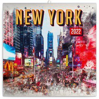 Pozn�mkov� kalend�? New York 2022, 30 x 30 cm