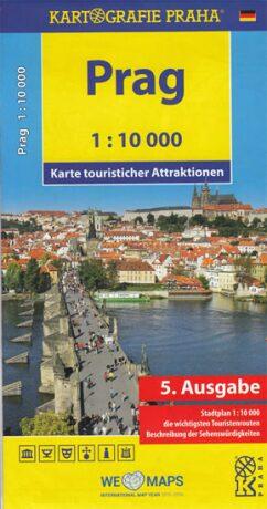 Prag - Karte touristischer Attraktionen /1:10 tis. - neuveden