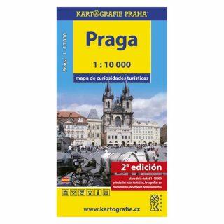 Praga - Mapa de curiosidades turísticas /1:10 tis. - neuveden