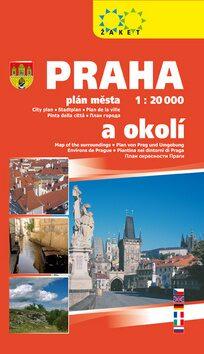 Praha plán města 1 : 20 000 a okolí 2018 -