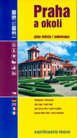 Praha a okolí plán města/automapa 1:20 000/1:150 000 - neuveden