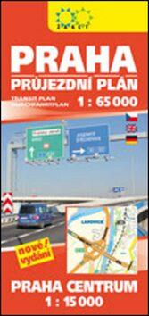 Praha průjezdní plán 1:65 000 + Praha Centrum 1:15 000 -