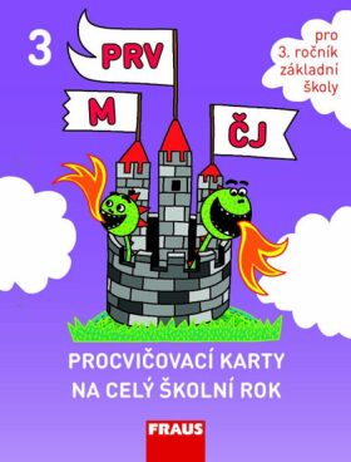 Procvičovací karty na celý školní rok 3 - ČJ, M, Prvouka - Syrová Lenka