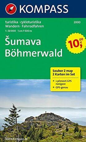 Šumava soubor 2 map  2000  NKOM 1:50T - neuveden