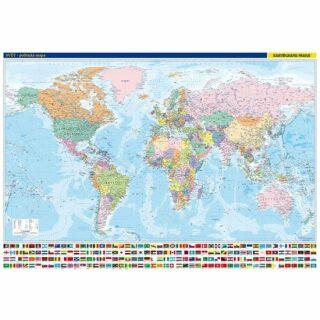 Svět - nástěnná politická mapa 1:22 mil./136x96 cm - neuveden