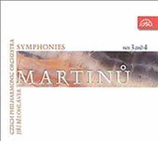 Symfonie č. 3, 4 - CD - Bohuslav Martinů