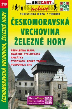 Českomoravská vrchovina, Železné hory 1:100 000 - neuveden