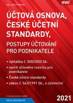 Účtová osnova, České účetní standardy 2021 - PILÁTOVÁ Jana Ing.