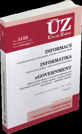 ÚZ č. 1152 - Informace, Informatika, eGovernment -