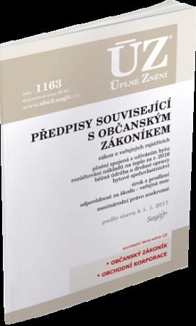 ÚZ 1163 Předpisy související s občanským zákoníkem -