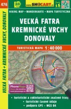 Veľká Fatra, Kremnické vrchy, Donovaly 1:40 000 -