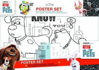 Velké plakátové omalovánky Tajný život mazlíčků + fixy - neuveden
