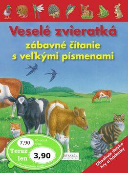 Veselé zvieratká zábavné čítanie s veľkými písmenami -