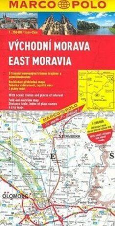 Východní Morava/ mapa - neuveden