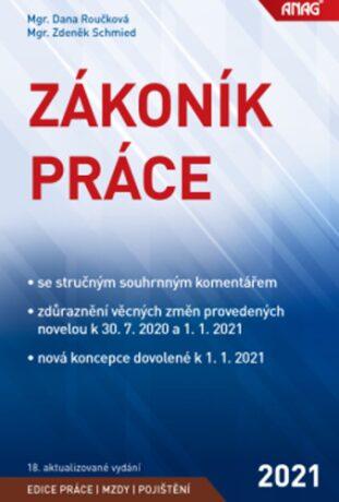 Zákoník práce 2021 (sešitové vydání) - Zdeněk Schmied, Dana Roučková