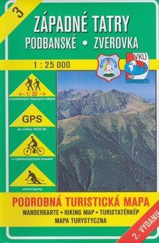 Západné Tatry Podbanské Zverovka 1 : 25 000 -