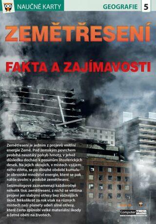 Zemětřesení - Naučné karty - neuveden