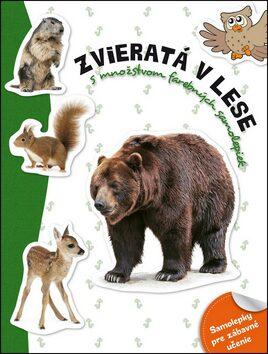 Zvieratá v lese s množstvom farebných samolepiek -