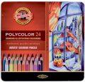 Koh-i-noor pastelky umělecké POLYCOLOR souprava 24 ks v plechové krabičce - KOH-I-NOOR HARDTMUTH