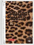 Studentský blok čtverečkovaný - Leopard (A4) - KANORG