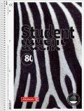 Studentský blok čtverečkovaný - Zebra (A4) - KANORG