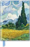 Zápisník Van Gogh: Wheat Field with Cypresses (Foiled Journal) - Flame Tree Publishing