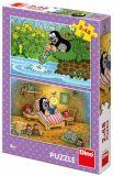 Puzzle Krtek a perla - 2x48 dílků - Dino Toys